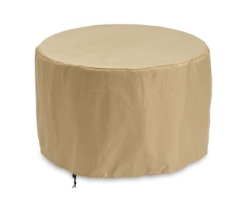 "Beige Round Vinyl Cover for 42"" Grante Top Fire Table"