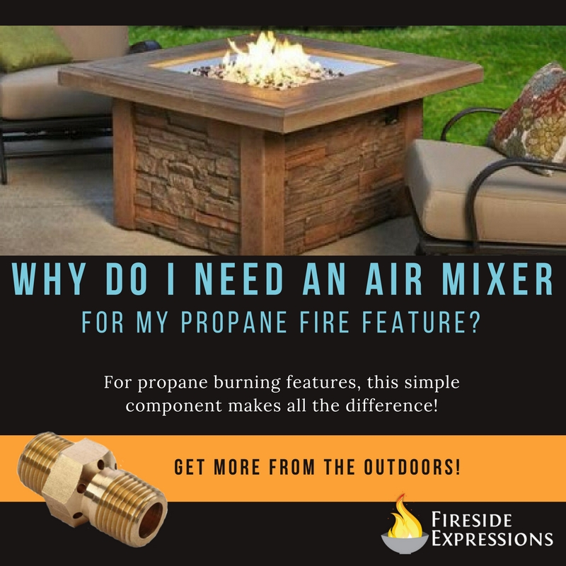 """Why do I need an air mixer?"" featuring the square Sierra fire pit table - 44 inch"