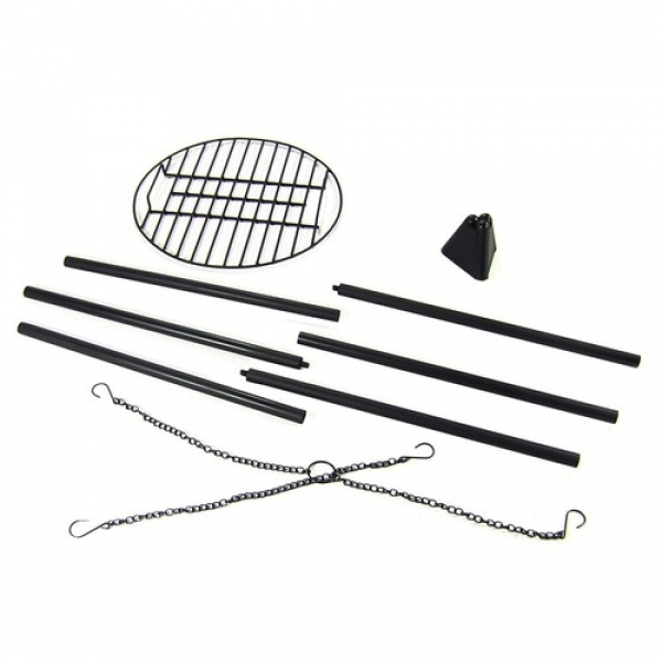 Fire Pit Tripod Grill with 22 Inch Cooking Grate