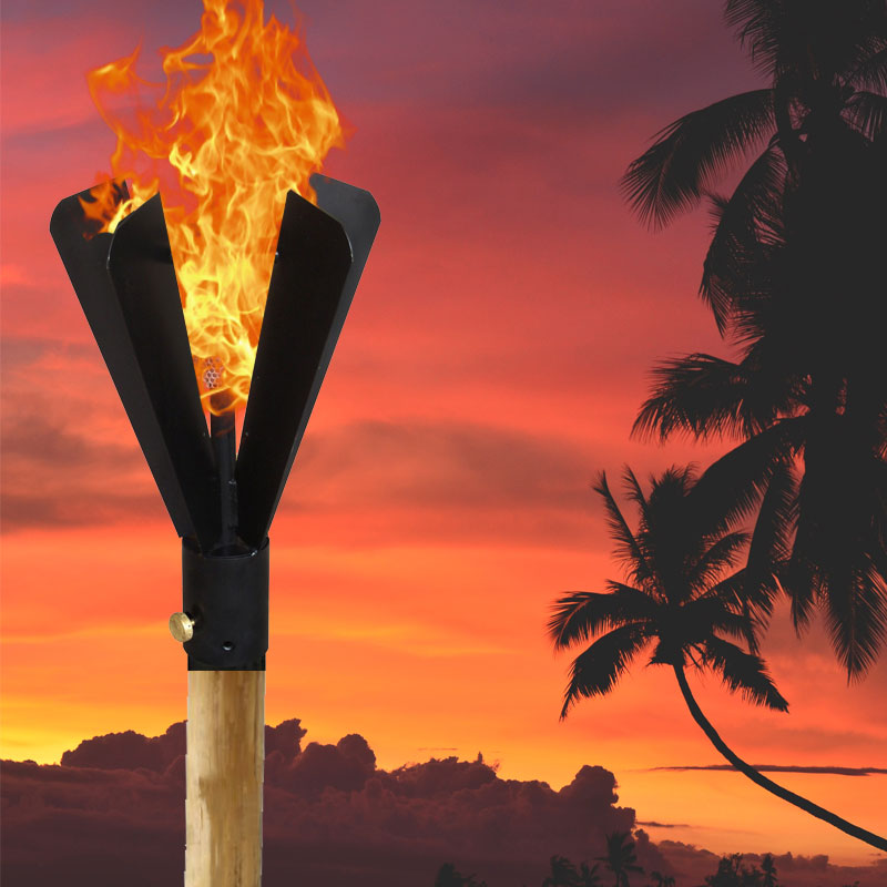 Black Fin Automated Tiki Torch