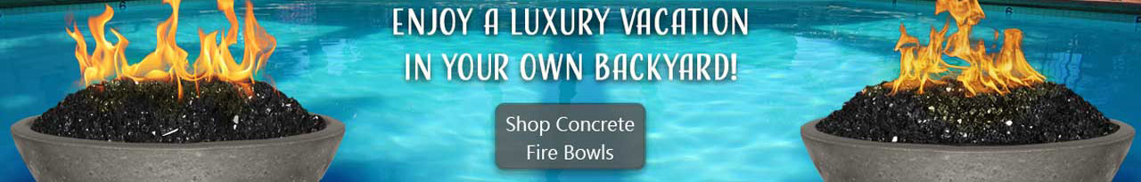 Concrete Fire Bowls from Fireside Expressions