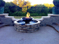 Customer's Evolution 360 fire & water fountain