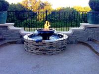 Customer's Evolution 360 fire & water fountain