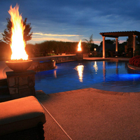 Customer Concrete fire bowls