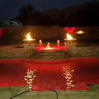 Customer Concrete fire and water bowls