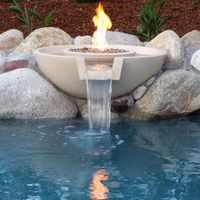 Customer Concrete fire and water bowl
