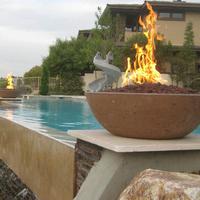 Customer Concrete fire bowls