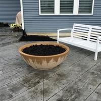 Customer Large concrete fire bowl
