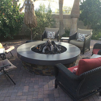 Customer Fire pit with log set