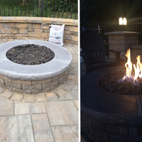 Customer DIY Fire pit with lava rock