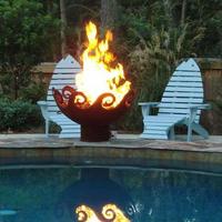 Customer steel fire pit