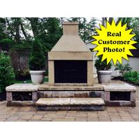 Customer's custom Mirage fireplace design