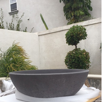 48 Inch Round Concrete Fire Bowl - Charcoal