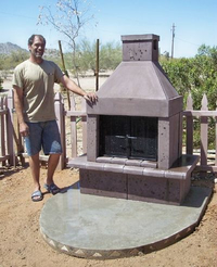 Customer with his mirage fireplace